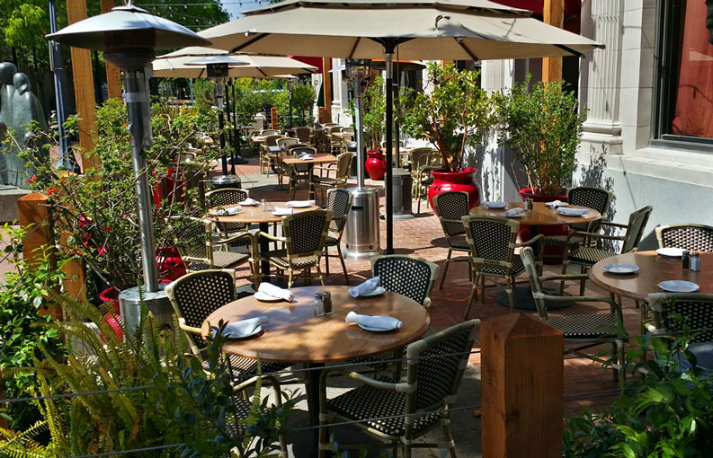 Dine on our Patio - Outdoor Seating in Napa Valley