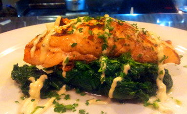 Enjoy our Salmon Entree