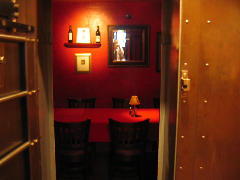 Dine in our Vault Room