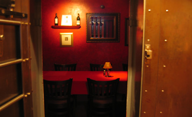 Dine in the Original Bank Vault Room