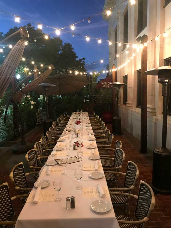 Enjoy Patio Dining on your Next Event
