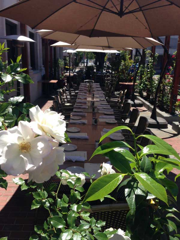 Patio Dining for your next Party Venue